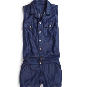 True Religion Tencel Button Down Romper
